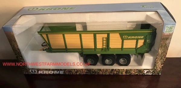 ROS 1:32 SCALE KRONE TX 560 D TRIPLE AXLE SILAGE TRAILER
