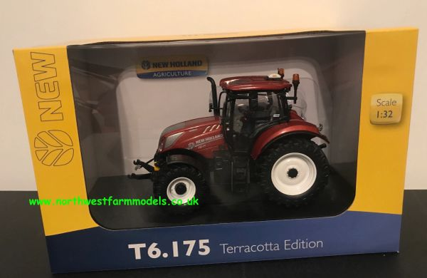 UNIVERSAL HOBBIES 5375 1:32 SCALE NEW HOLLAND T6.175 TERRACOTTA LIMITED EDITION