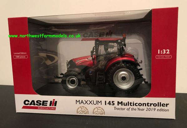 "UNIVERSAL HOBBIES 5386 1:32 SCALE CASE IH MAXXUM 145 MULTICONTROLLER METALLIC RED ""TRACTOR OF THE YEAR EDITION 2019"""