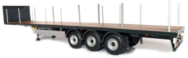 MARGE MODELS 1:32 SCALE PACTON ANTHRACITE FLATBED TRAILER