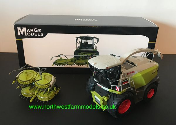 MARGE MODELS 1914 1:32 SCALE CLAAS JAGUAR 980 FORAGE HARVESTER WITH ORBIS 750 MAIZE HEADER