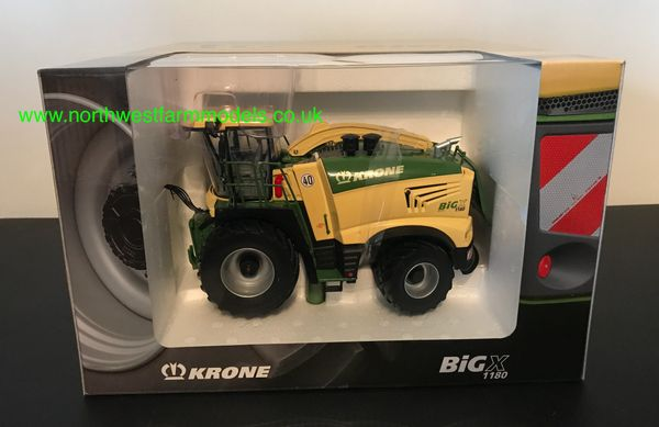 ROS 1:32 SCALE KRONE BIG X 1180 WITH MAIZE AND GRASS HEADER