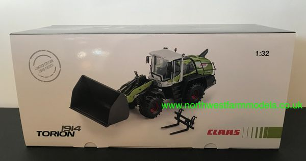 WIKING 1:32 SCALE CLAAS TORION 1914 LOADER LIMITED DEALER EDITION 2000 PIECES WITH BUCKET AND PALLET TINES