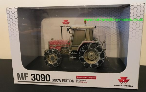 UNIVERSAL HOBBIES 1:32 SCALE MASSEY FERGUSON 3090 SNOW LIMITED EDITION