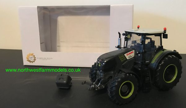 """ROS 1:32 SCALE CLAAS AXION 870 BLACK """"KAMPS DE WILD"""" 100 YEARS LIMITED EDITION"""