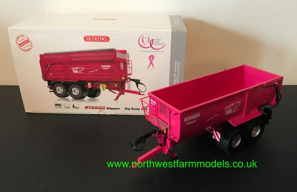 WIKING 1:32 SCALE KRAMPE KIPPER BIG BODY 650 SILAGE TRAILER PINK LIMITED EDITION