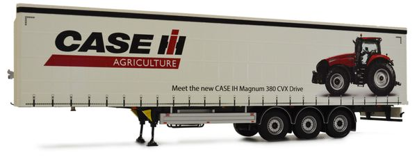 MARGE MODELS 1:32 SCALE PACTON CURTAINSIDE TRIPLE AXLE TRAILER - CASE IH