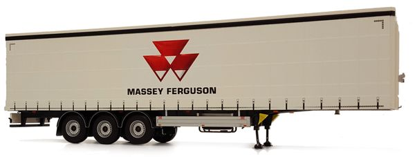 MARGE MODELS 1:32 SCALE PACTON CURTAINSIDE TRIPLE AXLE TRAILER - MASSEY FERGUSON