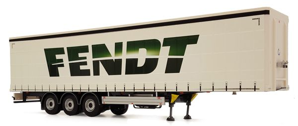 MARGE MODELS 1:32 SCALE PACTON CURTINSIDE TRIPLE AXLE TRAILER - FENDT