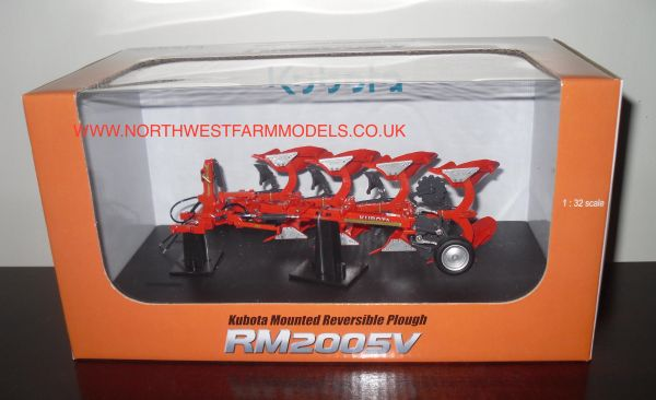UH4930 UNIVERSAL HOBBIES 1/32 SCALE KUBOTA RM 2005V 4 FURROW MOUNTED PLOUGH