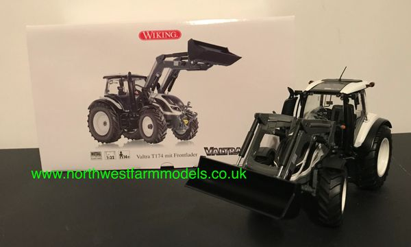 WIKING 1:32 SCALE VALTRA T SERIES WITH LOADER WHITE