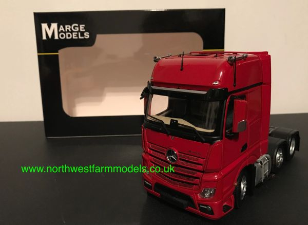 MARGE MODELS 1:32 SCALE MM1912-04 MERCEDES BENZ ACTROS GIGASPACE 6X2 RED