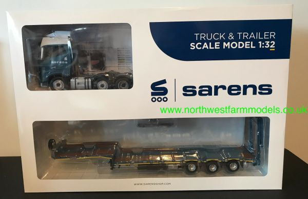 MARGE MODELS 1:32 SCALE VOLVO FH16 6x2 WITH NOOTEBOOM TRAILER - SARENS EDITION