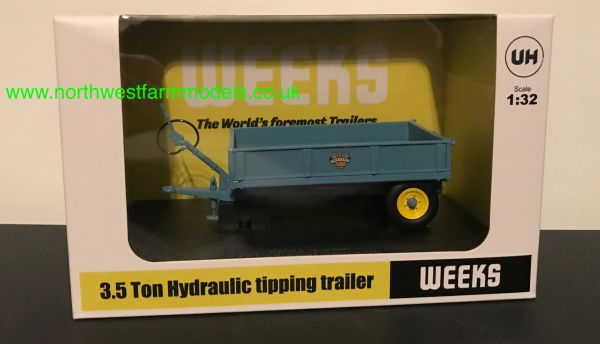 """UNIVERSAL HOBBIES 6215 1:32 SCALE WEEKS """"POPULAR"""" 3.5T SINGLE AXLE TIPPING TRAILER"""