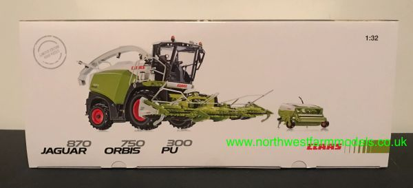WIKING 1:32 CLAAS JAGUAR 870 WITH ORBIS 750 MAIZE HEADER & PU 300 GRASS PICKUP HEADER **LIMITED EDITION**