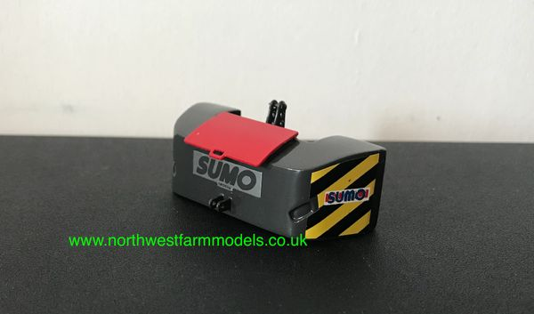 1:32 SCALE SUMO FRONT WEIGHT (GREY/RED LID)