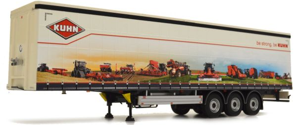 MARGE MODELS 1:32 SCALE PACTON CURTAINSIDE TRAILER - KUHN