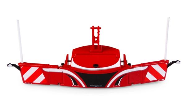 UNIVERSAL HOBBIES 6250 1:32 SCALE TRACTOR BUMPER SAFETY WEIGHT 800KG - RED