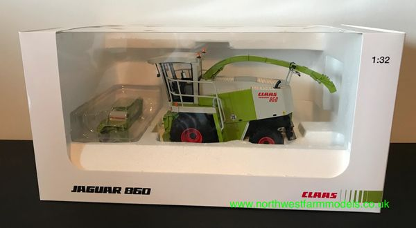 UNIVERSAL HOBBIES 1:32 SCALE CLAAS JAGUAR 860 WITH GRASS HEADER LIMITED EDITION