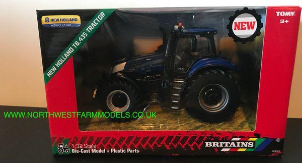 BRITAINS FARM 1:32 SCALE NEW HOLLAND T8.435 BLUE POWER