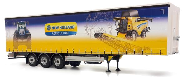 MARGE MODELS 1:32 SCALE PACTON CURTAIN SIDE TRAILER - NEW HOLLAND EDITION