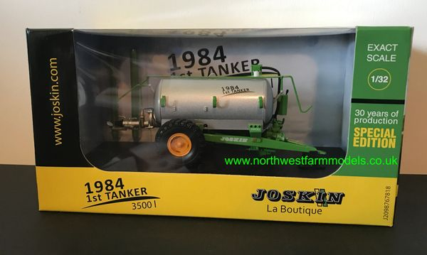 UNIVERSAL HOBBIES 4863 1:32 SCALE JOSKIN 3500L FIRST TANKER LIMITED EDITION