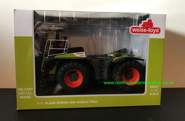WEISE TOYS 1:32 SCALE CLAAS XERION 4000 SADDLE TRAC (GREEN BOX)