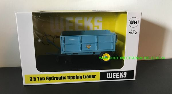 UNIVERSAL HOBBIES 6229 1:32 SCALE WEEKS HI SIDE TIPPER TRAILER