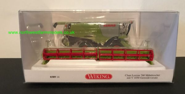 038911 WIKING CLAAS LEXION 760 COMBINE WITH GRAIN HEADER 1:87 SCALE