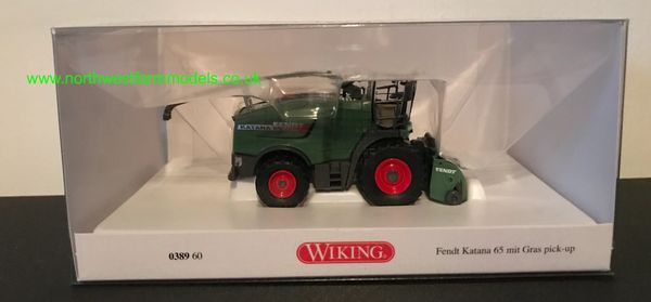 038960 1:87 SCALE WIKING FENDT KATANA 65 WITH GRASS HEADER