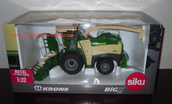 SIKU 1/32 KRONE BiG X 580 WITH MAIZE HEADER (LIMITED EDITION) *DEALER BOX*