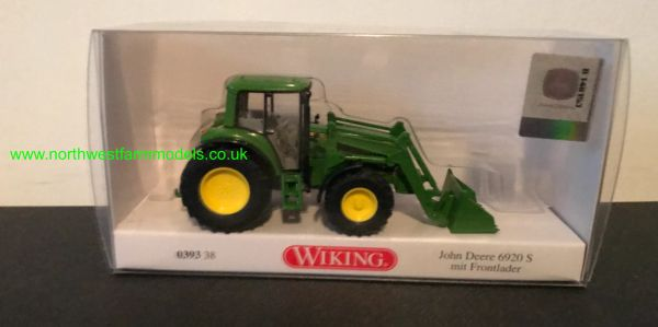 WIKING JOHN DEERE 6920 S WITH LOADER 1:87 SCALE
