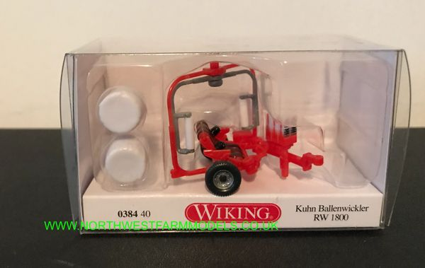 WIKING 1:87 SCALE KUHN BALE WRAPPER WITH BALES