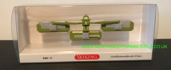 038339 WIKING CLAAS CORTO 8100F FRONT BUTTERFLY MOWERS 1:87 SCALE