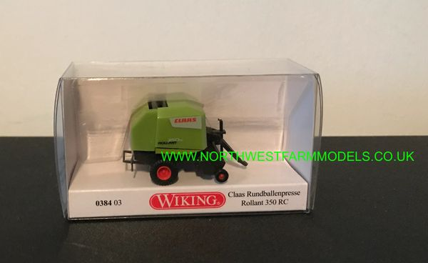 038403 WIKING CLAAS ROLLANT 350C ROUND BALER 1:87 SCALE