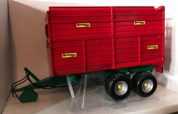 HAND BUILT 1:32 SCALE MARSHALL DOUBLE AXLE SILAGE TRAILER