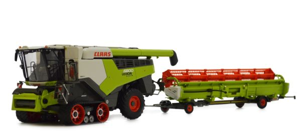 MARGE MODELS 1:32 SCALE CLAAS LEXION 6800TT COMBINE HARVESTER WITH HEADER AND TRAILER