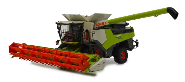 MARGE MODELS 1:32 SCALE CLAAS LEXION 6800 COMBINE HARVESTER WITH HEADER AND TRAILER