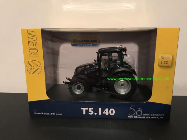 UNIVERSAL HOBBIES 6254 1:32 SCALE NEW HOLLAND T5.140 PROFONDO BLUE 50TH ANNIVERSARY EDITION