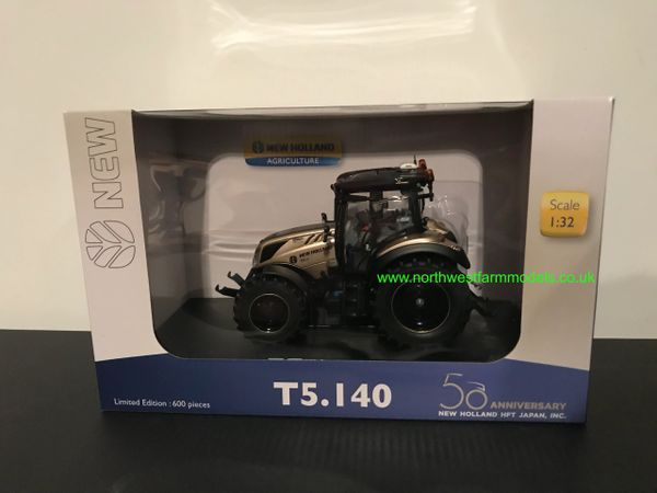 UNIVERSAL HOBBIES 6255 1:32 SCALE NEW HOLLAND T5.140 GOLD 50TH ANNIVERSARY EDITION