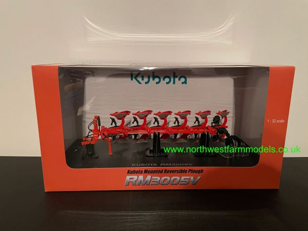 UNIVERSAL HOBBIES 1:32 SCALE KUBOTA 6 FURROW REVERSIBLE PLOUGH