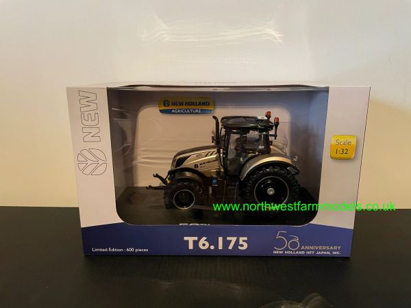 UNIVERSAL HOBBIES 6253 1:32 SCALE NEW HOLLAND T6.175 GOLD 50TH ANNIVERSARY EDITION