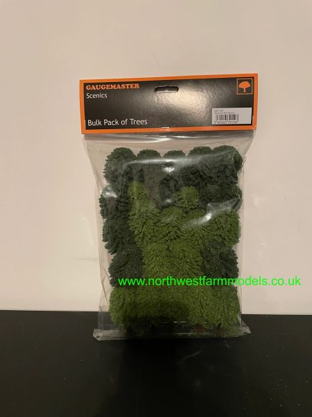 25 PACK OF SCENIC GREEN TREES