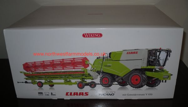 077817 WIKING 1/32 SCALE CLAAS TUCANO 570 WITH V930 HEADER AND TRAILER