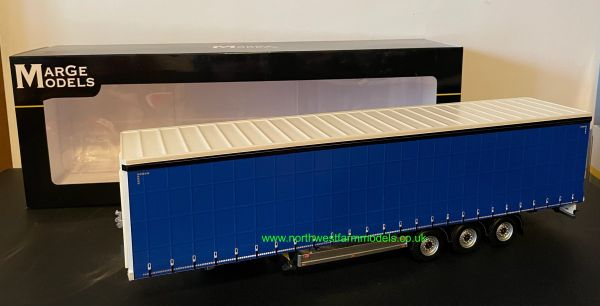 MARGE MODELS 1:32 SCALE PACTON CURTAINSIDE TRAILER (BLUE)