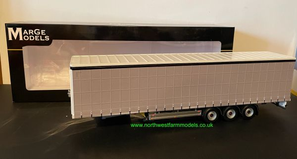 MARGE MODELS 1:32 SCALE PACTON CURTAINSIDE TRAILER (GREY)