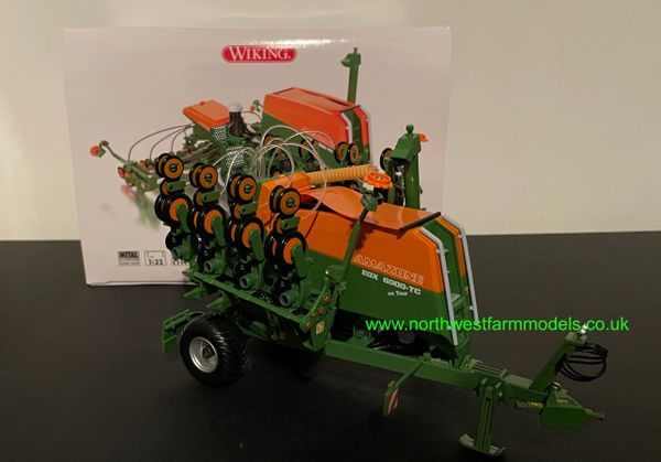 WIKING 1:32 SCALE AMAZONE EDX 6000 FOLDING TRAILED DRILL