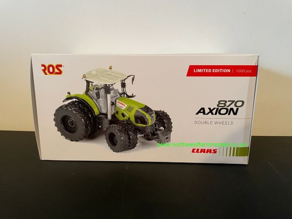 ROS 1:32 SCALE CLAAS AXION 870 8 WHEELED VERSION LIMITED EDITION