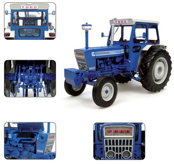 UNIVERSAL HOBBIES 2798 1:16 SCALE FORD 7000 2WD TRACTOR