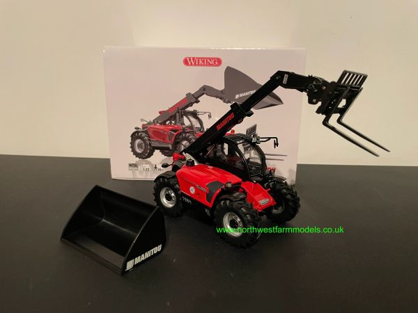 WIKING 1:32 SCALE MANITOU MLT 635 TELEHANDLER WITH ATTACHMENTS